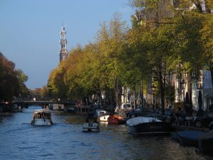 Amsterdam canal that was previously used as a sewer system
