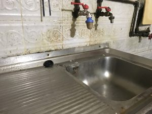 a clogged sink drain