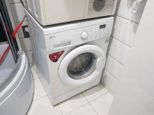 a clogged washing machine