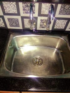 a clogged kitchen sink in enschede
