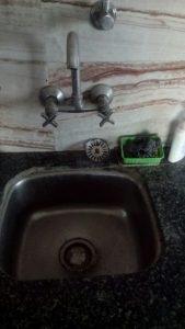 a clogged kitchen sink in landsmeer