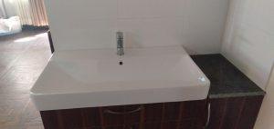 a clogged washing basin in sneek