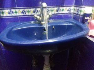 a running water tap