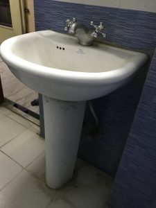 replace an old washing basin