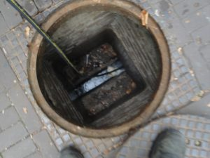 inspection of the sewerage
