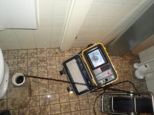 sewer camera inspection in progress
